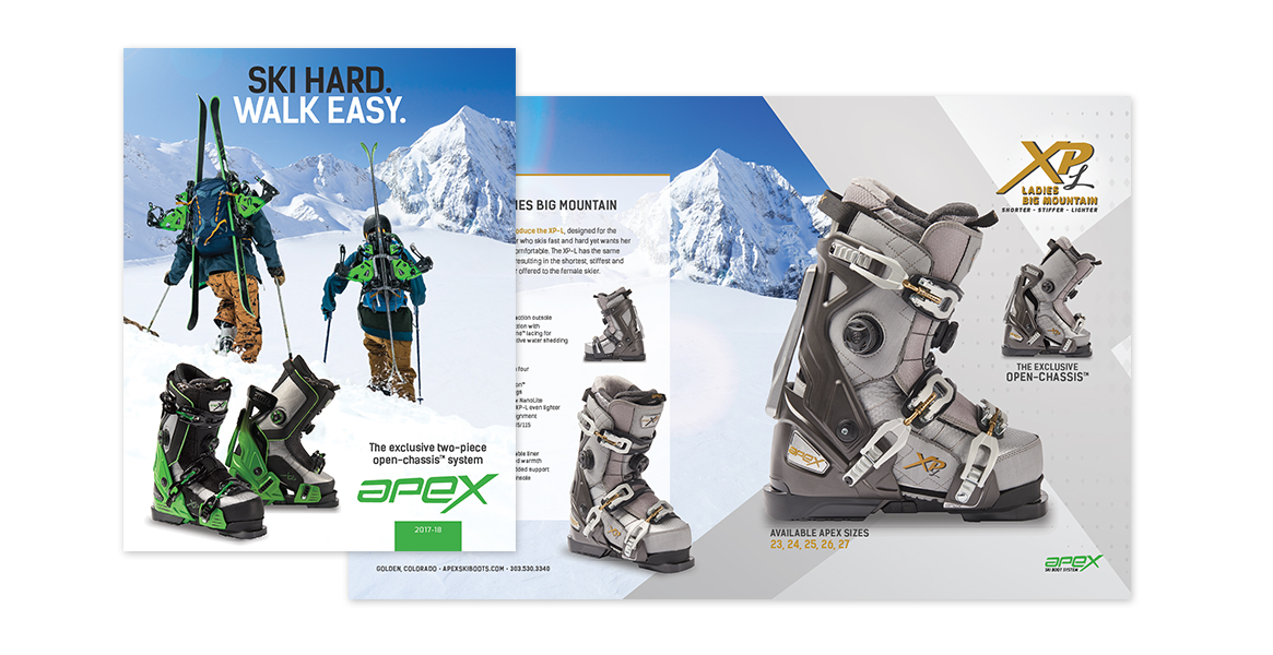 Apex Ski Boots digital marketing materials