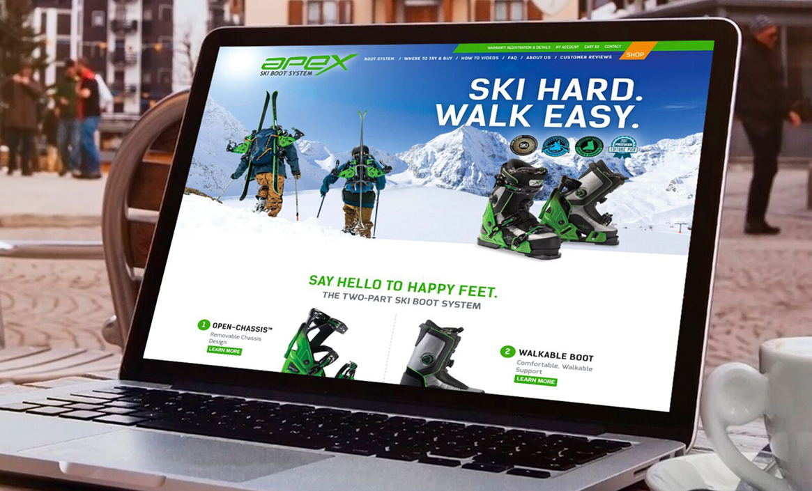 Apex Ski Boots web design